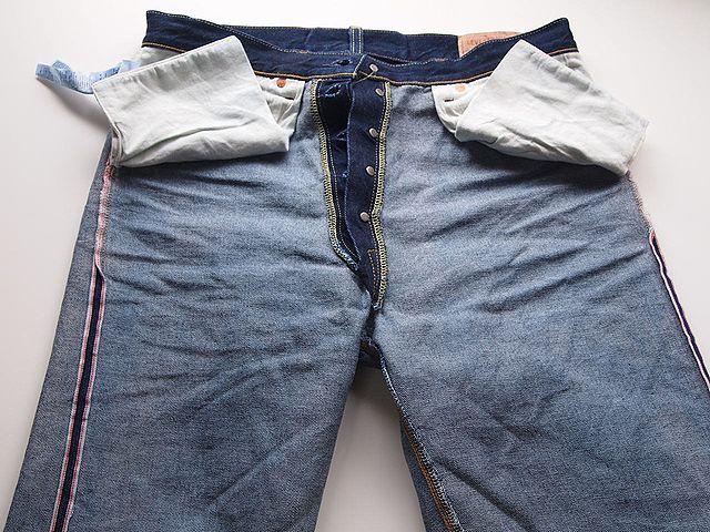 裏返しのジーンズ