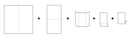 TVフォールドの折り方画像