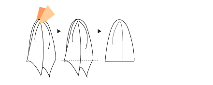 パフドスタイルの折り方画像