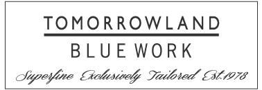 TOMORROW LAND  BLUE WORK ロゴ