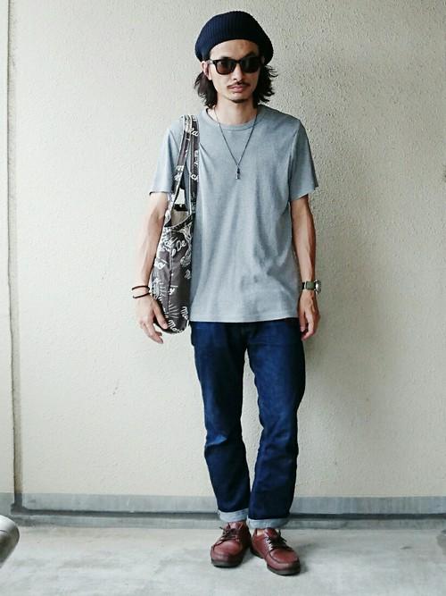 無地Tシャツ(グレー)