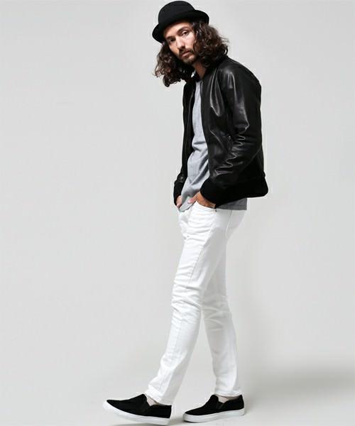 ブラック×グレー×ホワイトパンツ