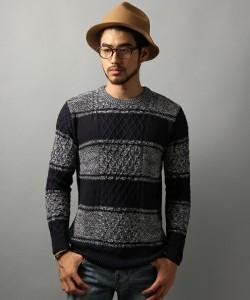 201609_Menz_striped shirt_ knit_a dandy_dressing well_ technique_005