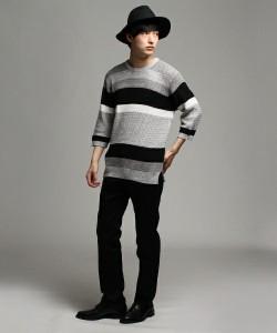 201609_Menz_striped shirt_ knit_a dandy_dressing well_ technique_017