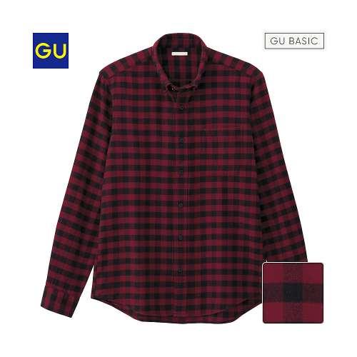 GU ギンガムチェックシャツ