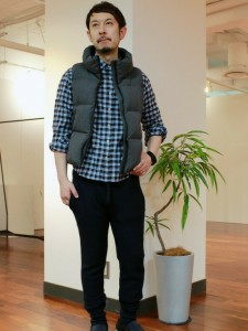 201609_Menz_a gingham shirt_be popular_different colored_coordination_031