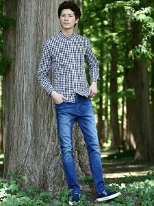 201609_Menz_a gingham shirt_be popular_different colored_coordination_023