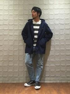 ボーダーニット【カジュアルコーデ】
