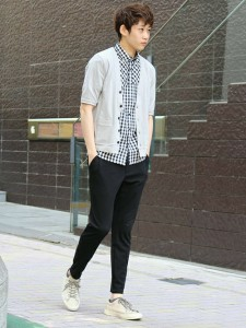 201609_Menz_a gingham shirt_be popular_different colored_coordination_021