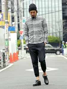 201609_Menz_a gingham shirt_be popular_different colored_coordination_020