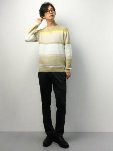 201609_Menz_striped shirt_ knit_a dandy_dressing well_ technique_012