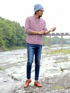 201609_Menz_a gingham shirt_be popular_different colored_coordination_026