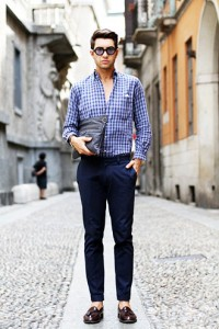 201609_Menz_a gingham shirt_be popular_different colored_coordination_004