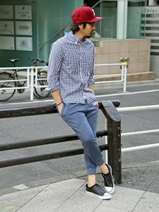 201609_Menz_a gingham shirt_be popular_different colored_coordination_015