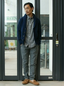 201609_Menz_a gingham shirt_be popular_different colored_coordination_014