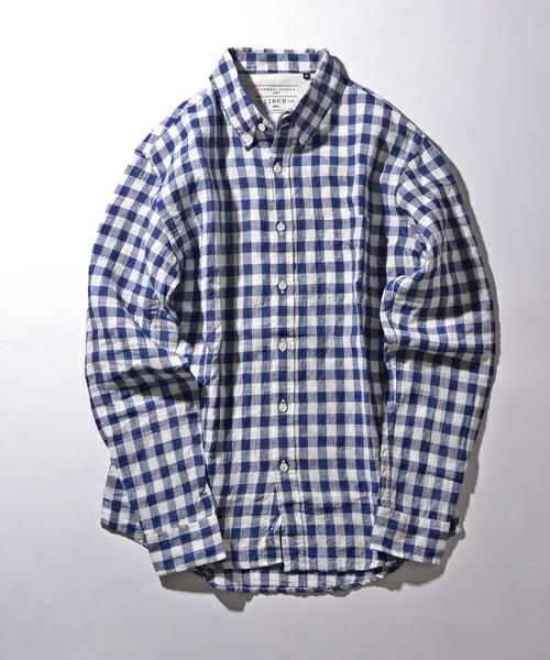 201610_Menz_a waistcloth_A plaid shirt_seasondressing well_coordination_034