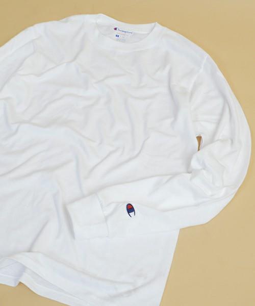 チャンピオン コットン 無地 ロングTシャツ