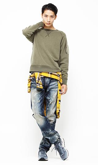 201610_Menz_a waistcloth_A plaid shirt_seasondressing well_coordination_013