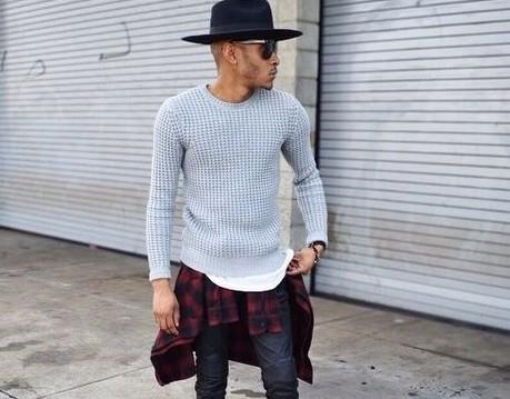 201610_Menz_a waistcloth_A plaid shirt_seasondressing well_coordination_000