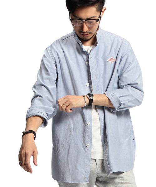 襟なしシャツ