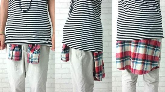 201610_Menz_a waistcloth_A plaid shirt_seasondressing well_coordination_007