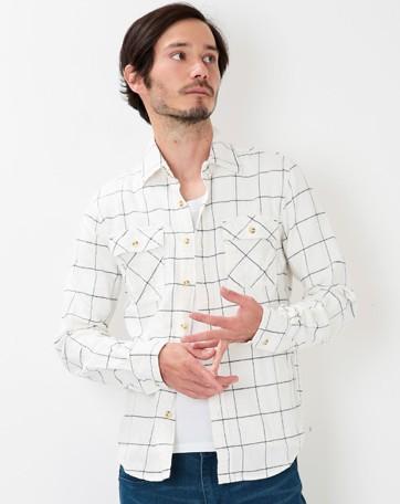 201610_Menz_a waistcloth_A plaid shirt_seasondressing well_coordination_040