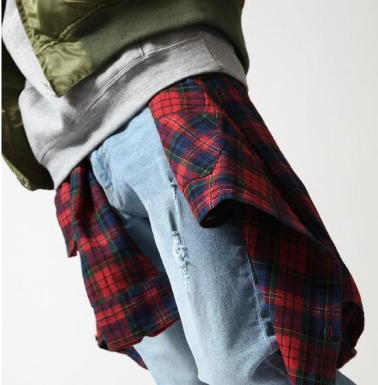 201610_Menz_a waistcloth_A plaid shirt_seasondressing well_coordination_002