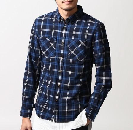 201610_Menz_a waistcloth_A plaid shirt_seasondressing well_coordination_032
