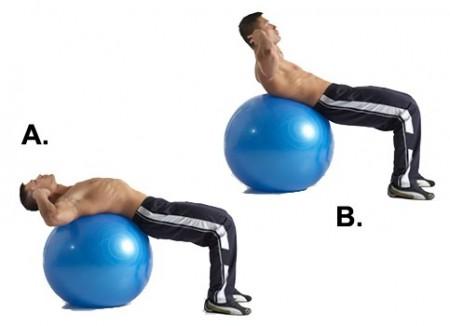 腹筋 バランスボール