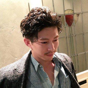 茶髪×パーマスタイル