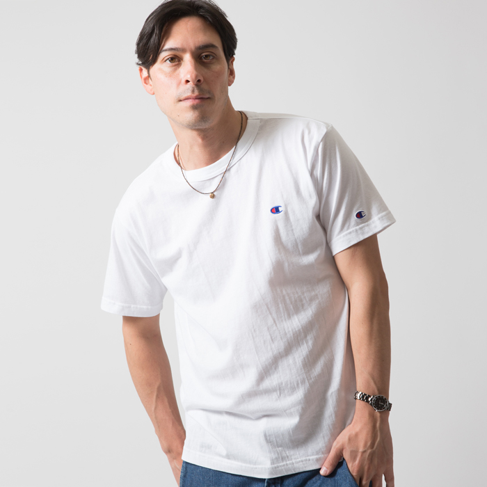 無地クルーネックTシャツ