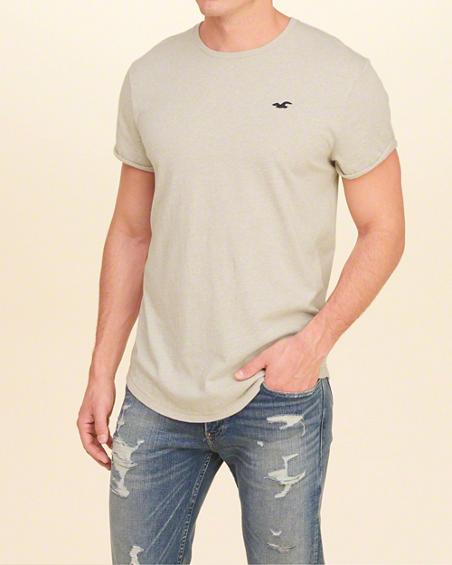 ロールアップTシャツ hollister