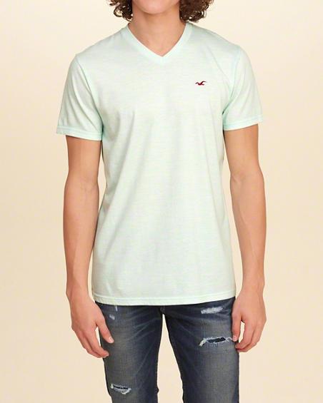 VネックTシャツ hollister