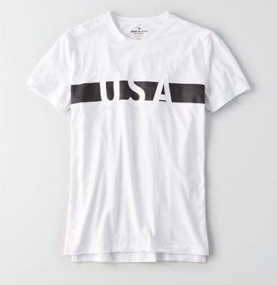 USAロゴTシャツ