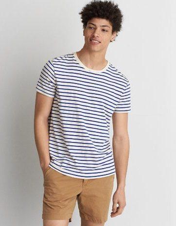 ストライプ クルーネックTシャツ