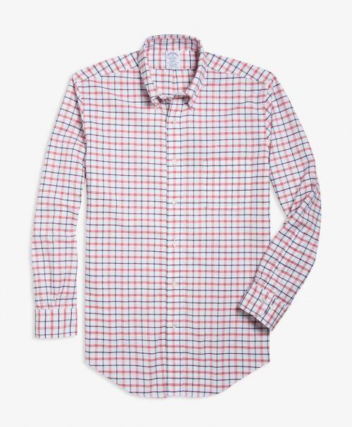 スーピマコットン オックスフォード ラージチェック スポーツシャツ
