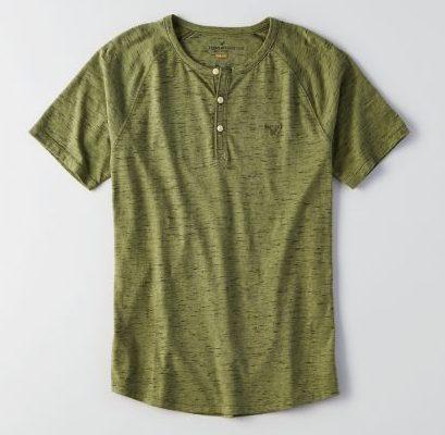 無地ヘンリーネックTシャツ