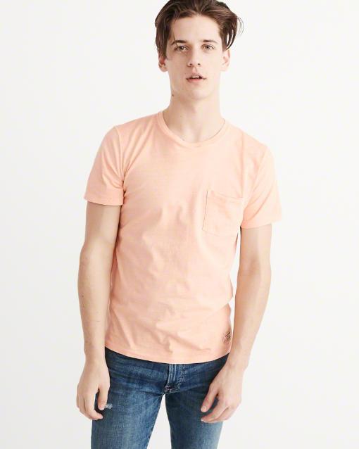 ガーメントダイ ポケット付きTシャツ
