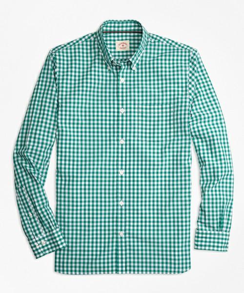 Red Fleece コットンブロード ギンガムチェック カジュアルシャツ