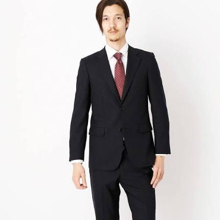 COMME CA ISM スーツ ブラック