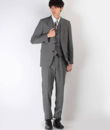 COMME CA ISM スーツ グレー