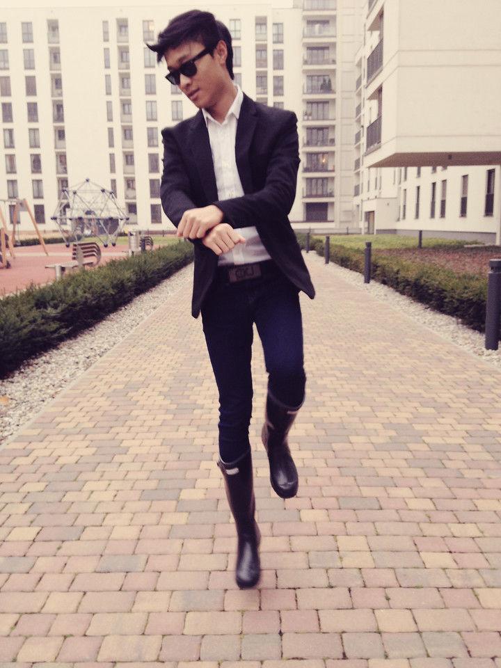 長靴 コーデ メンズ