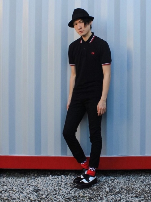 FRED PERRY ポロ コーデ