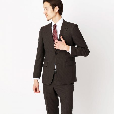 COMME CA ISM スーツ ダークブラウン