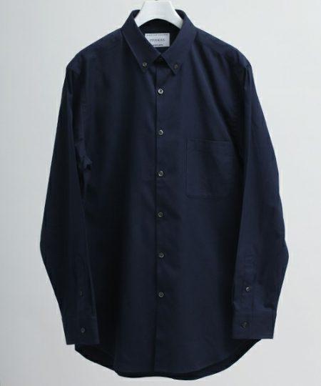 鎌倉シャツ ロングスリーブネイビーシャツ