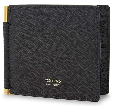 textured leather money clip TOMFORD