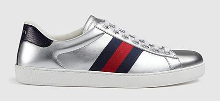 Ace metallic leather sneaker