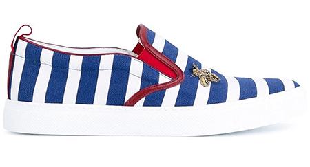 striped slip on sneakers