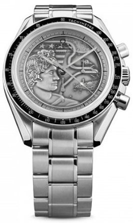 Speedmaster Apollo XVII Silver Embossed Dial Stainless Steel
