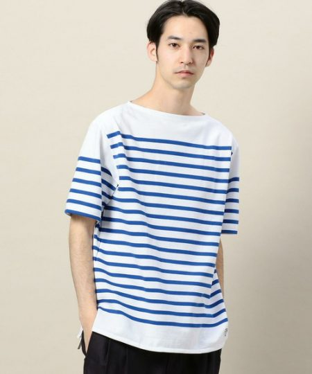 パネルボーダー Tシャツ ORCIVAL